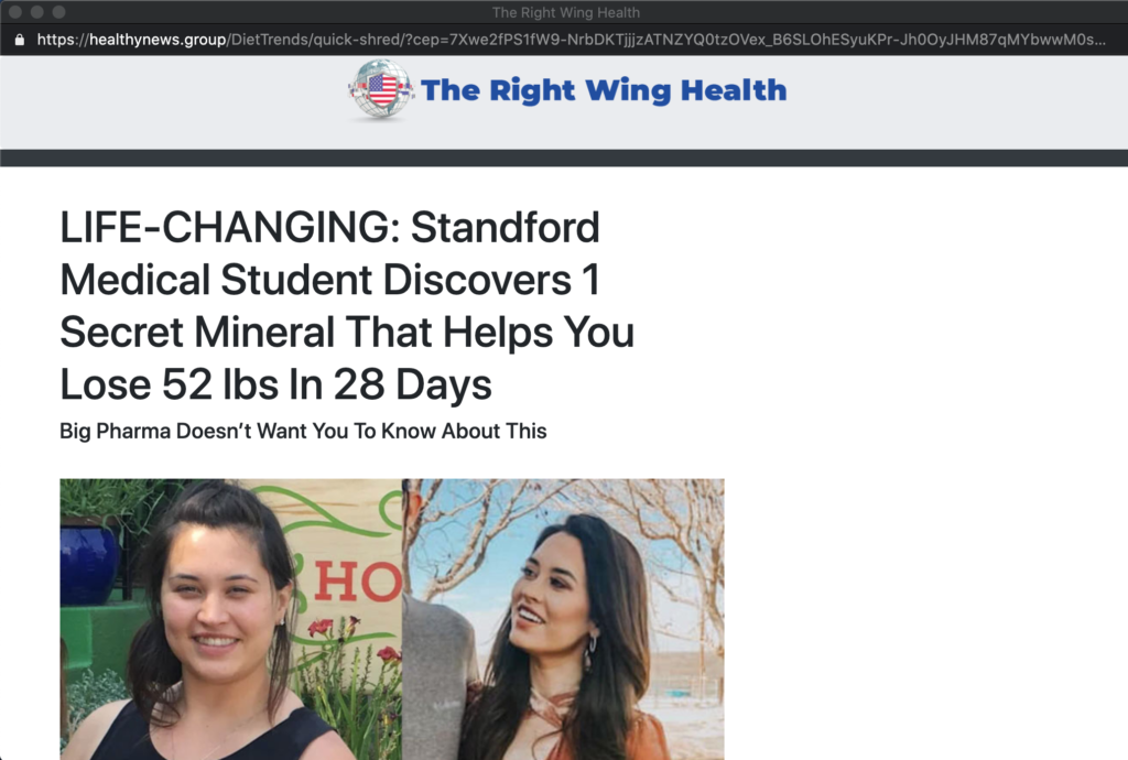 healthynews.group popunder page